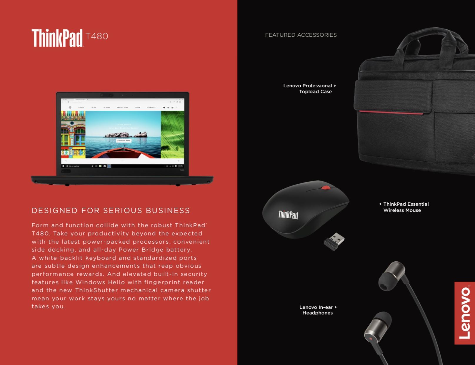 Lenovo ThinkPad T480 20L5000YUS 14